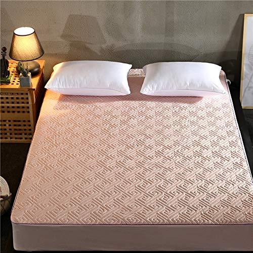 JRG Gesteppter Bed Mattress Pad Protector In One, Anti-rutsch Gemütlich Baumwolle Gepolstert Allergiker Premiumhotel Waschbar Tatami-matratzenauflage-h 120x200cm -