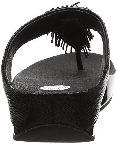 FitFlop Cha Cha, Sandales Plateforme femme Noir - Black (Black 001)