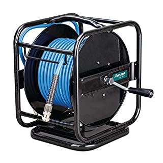 Stürmer Airkraft 2105831 Compressed Air Hose Reel DST 8/31 (30 Metres, Rotates 360°, Kink Protection, with Fabric Attachment)