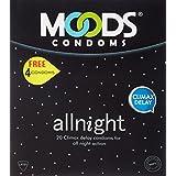Moods All Night 20's Condoms ( free 4 condoms )