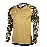 Kelme portero del fútbol de verano Camiseta manga 2017-18 formación profesional (Gold/Black, XXL)