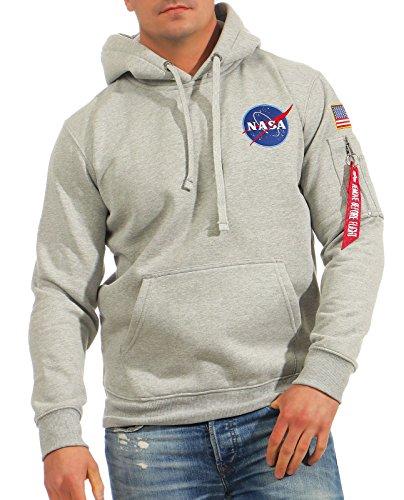 Alpha Hoodie (Alpha Industries Space Shuttle Hoodie Grau M)