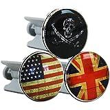2 x HC-Handel 915849 Waschbeckenstöpsel Waschbeckenstopfen Vintage Flag 7 cm - Motiv: USA