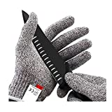 metzger handschuh nocry schnitzhandschuh kinder Anyasen Cut Resistant Gloves - Food Grade Level 5 Protection for Hand Protection, Safety Kitchen Cutting Gloves for Oyster Shucking, Fish Fillet Processing, Mandolin Slicing, Meat Cutting and Wood Car (XL)