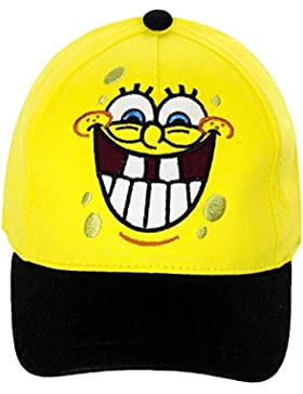 Sponge Bob Baseball Cap für Kinder, original Lizenzware, gelb/schwarz, Gr. 52 und 54
