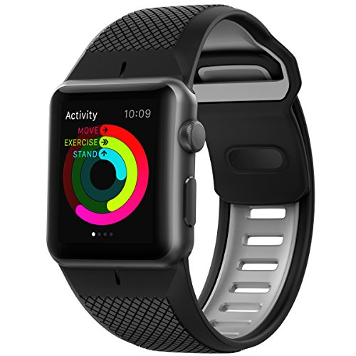 Nomad Sport - Correa para Apple Watch de 42 mm, negro