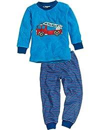 Playshoes Jungen Zweiteiliger Schlafanzug Schlafanzug Frottee Feuerwehr