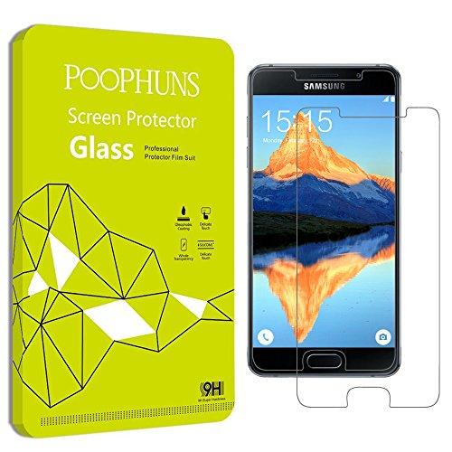 Samsung Galaxy A5 (2016) Schutzfolie, 2Stück POOPHUNS Samsung Galaxy A5 (2016) Panzerglas, 9H Härtegrad, 99% Ultra Transparenz Full HD, Blasenfrei, Einfache Installation und Hohe Qualität