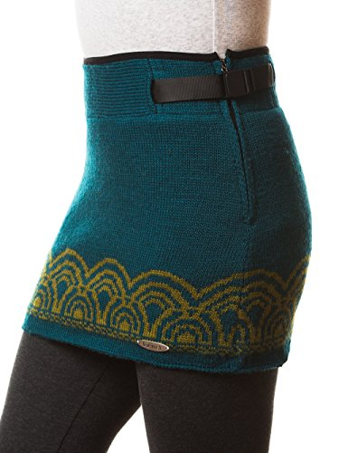 Everest Designs Damen Emily Mini Rock, damen, blaugrün, M (Damen Fleece Mini Rock)