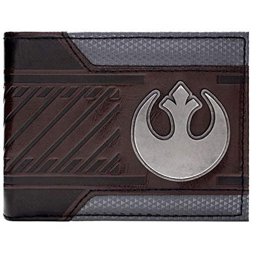 Disney Star Wars Rebellen-Allianz Sternvogel Geldbeutel mit Fächern für Ausweis und Kreditkarten, zum Ausklappen, braun