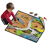Neat-Oh! Full Throttle Construction Zone 2-Sided Playmat w/ 1 Car by Neat-Oh