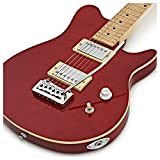 Guitare électrique Santa Monica par Gear4music Rouge transparent
