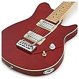 Guitare électrique Santa Monica par Gear4music Rouge transparent