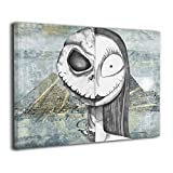 Foru-art Alien Skull 21 Pilots Heathens 16¡°x20¡± Canvas Wall Art Prints,Modern Painting Picture On Canvas,Decorative Giclee Artwork Wall Decor For Home,Gallery Wrapped Ready To Hang
