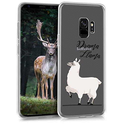 kwmobile Samsung Galaxy S9 Hülle - Handyhülle für Samsung Galaxy S9 - Handy Case in Champagner Schwarz Transparent