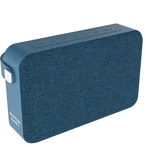 AZATOM Kara K1 Bluetooth speaker - Luxury cloth - Rechargeable - Handsfree calls - Bass woofer - 24 Watts - 20 Hours Playtime - British Designed - BLUE