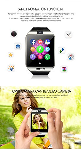 Smart Watch KXCD Bluetooth Smart Fitness Smart Watches With Camera For Android Smartphone