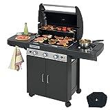 Univers Du Pro Barbecue a gaz grill et plancha CAMPINGAZ LS DARK 3 Classic bruleurs inox allumage piezo fonte émaillée housse offerte