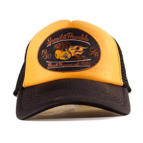 ROAD RODEO Trucker Cap, Baseball Cap, Schirmmütze, Kappe, Verstellbar, Speed and Rumble Patch -