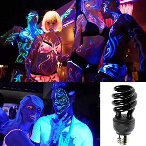 TrAdE shop Traesio Lampada A Basso CONSUMO Spirale Luce Nera di Wood UV ULTRAVIOLETTI E27 28W T3
