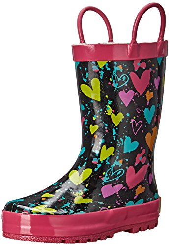 Western Chief Heart Splatter Rain Boot (Toddler/Little Kid/Big Kid) Black