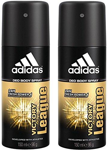 adidas Victory League Deo Body Spray für Herren, 2er Pack (2 x 150 ml)