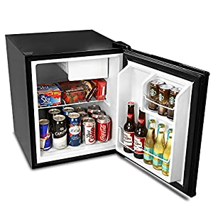 bar@drinkstuff Frostbite Zero Degrees Mini Fridge with Icebox 49ltr Black - Mini Fridge with Freezer Compartment by bar@drinkstuff