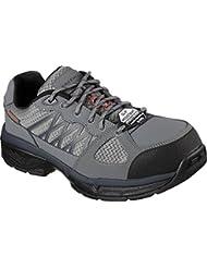 Skechers Hombre de trabajo relajado Fit Conroe Searcy ESD trabajo zapatillas, gris / negro