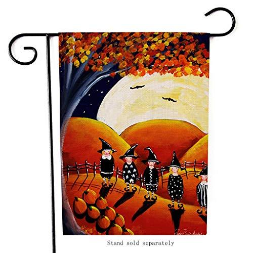 Vogelscheuche Halloween Kostüm Muster - XINAINI Gartenflagge Happy Halloween, Doppelseitige Mit