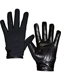 Unisex Mens Womens Semi Leather Gloves Stretch Fit xs-s-m