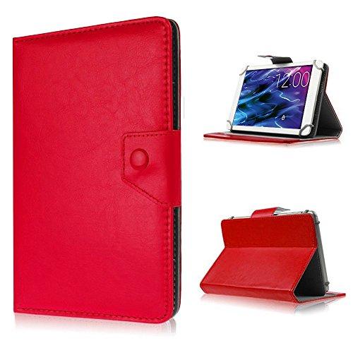 Tablet Tasche für Medion Lifetab P8514 P8314 P8312 P8311 S8312 S8311 Hülle Case , Farben:Rot