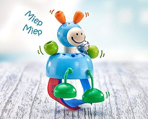 Selecta 61050 Pia Iah, Kinderwagenspielzeug mit Klettverschluß, 10 cm