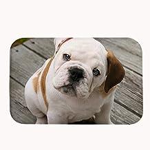 """yuxinke Bulldog Felpudo de goma antideslizantes antibacteriano manta alfombra Felpudo para baño Dormitorio Cocina al aire libre interior, #1, 19.7""""x 31.5"""""""