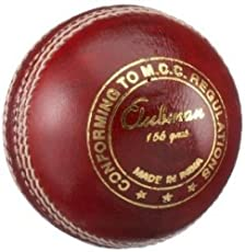 GM Clubman Leather Cricket Ball (Red)