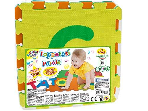 Teorema 71963 - Tappetini Puzzle Crea Le Parole, Colori Assortiti