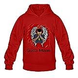 Herren Gucci Mane Musik Hoodies Sweatshirt Größe US Weiß, Herren, rot