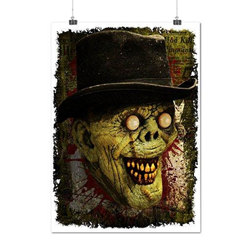 Gentleman Tot Mann Zombie Monster Hut Mattes/Glänzende Plakat A3 (42cm x 30cm) | (Toten Der Maske Gentleman Tag)