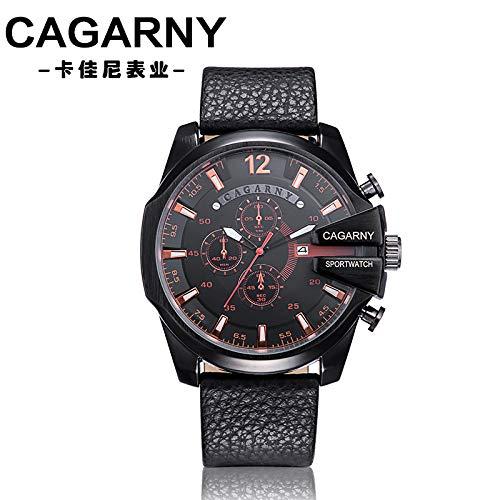 FENKOO Schöne Armbanduhren Herren Quarzuhr Mode Big Dial Quarz Uhr Herrenuhr (Color : 2)