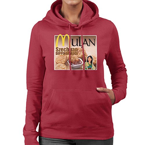 Mulan Chicken Nuggets Szechaun Dipping Sauce Rick And Morty Women's Hooded Sweatshirt Cherry Red