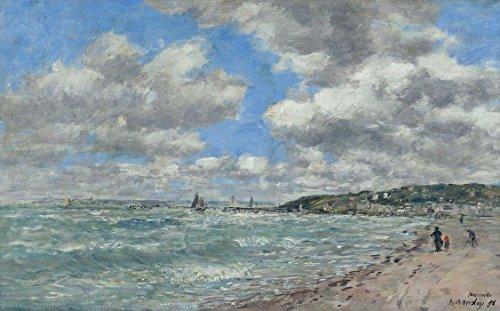 Das Museum Outlet-Shore von Deauville, 1896-Poster (mittel)