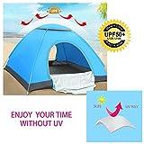 Zelt - Wantfield Automatisch Pop Up Zelt für 3-4 Personen Outdoor Camping und Wandern (Blau)