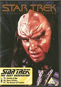 STAR TREK - THE COLLECTOR'S EDITION - TNG 7 - COMING OF AGE, HEART OF GLORY, THE ARSENAL OF FREEDOM - NEW & FACTORY SEALED - VERY HARD TO COME BY SEALED - RARE