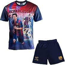 Conjunto camiseta + Short FC Barcelona–Lionel Messi–Colección oficial FC Barcelona–Talla de Niño Azul azul Talla:6 años