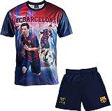Set Trikot + Shorts Barça–Lionel Messi–Offizielle Kollektion FC Barcelona–Größe Kinder Jungen 14 Jahre Blau - blau