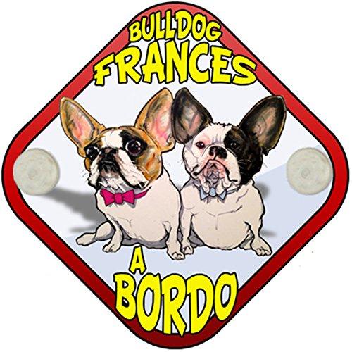 Placa bebé a bordo Bulldog Francés a bordo perro a bordo