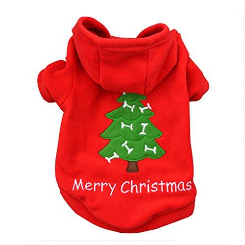 TJW Kleine Haustiere Hund Kleidung Fashion Kostüm Puppy T-Shirt Apparel Weihnachten T-Shirt Winter Warm Coat