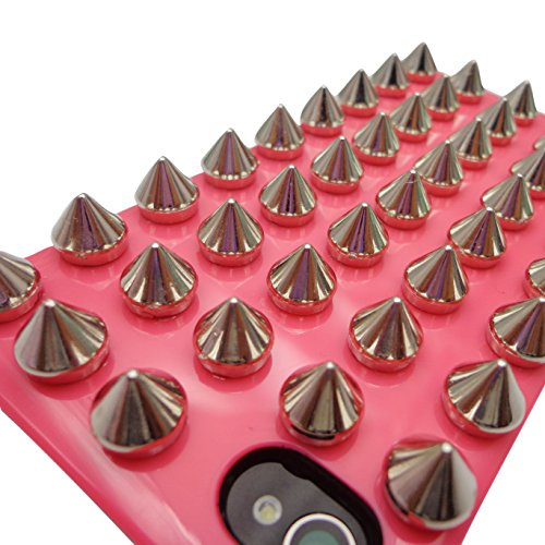 xhorizon TM 3D Shin Full Hybrid Spikes Rivet Nails anti-choc solide etui coque housse Cover Case Stud pour iPhone 4/4S #5