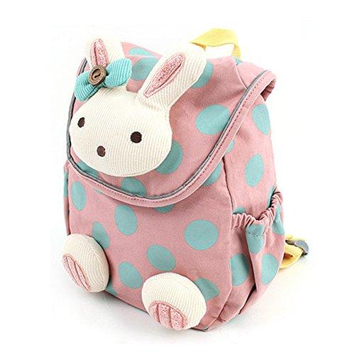 Kindergarten -Rucksack, DINGANG® Baby-Kindergarten Kindergarten -Baumwolltuch -Schule-Beutel-Karikatur-Tier Kaninchen Muster Rucksack [Rosa]