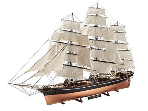 Preisvergleich Produktbild Revell Modellbausatz Schiff 1:96 - Cutty Sark im Maßstab 1:96, Level 5, originalgetreue Nachbildung mit vielen Details, Segelschiff, 05422