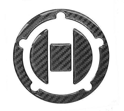 Tankdeckel-Pad 3D 620010 Carbon Schwarz - Hightech-Folie mit sichtbarer Struktur - universeller Tank-Schutz passend für Suzuki-Tanks